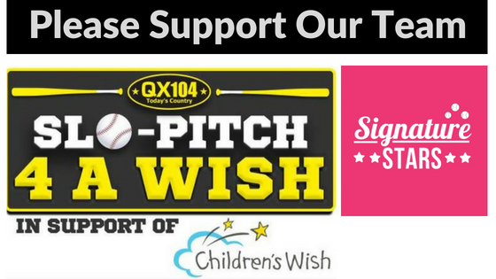 Slo-pitch 4 A Wish - Signature Stars Please support our team